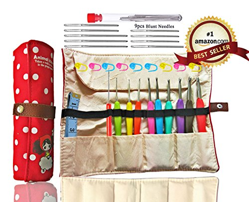 Ergonomic Crochet Organizer Knitting Measuring