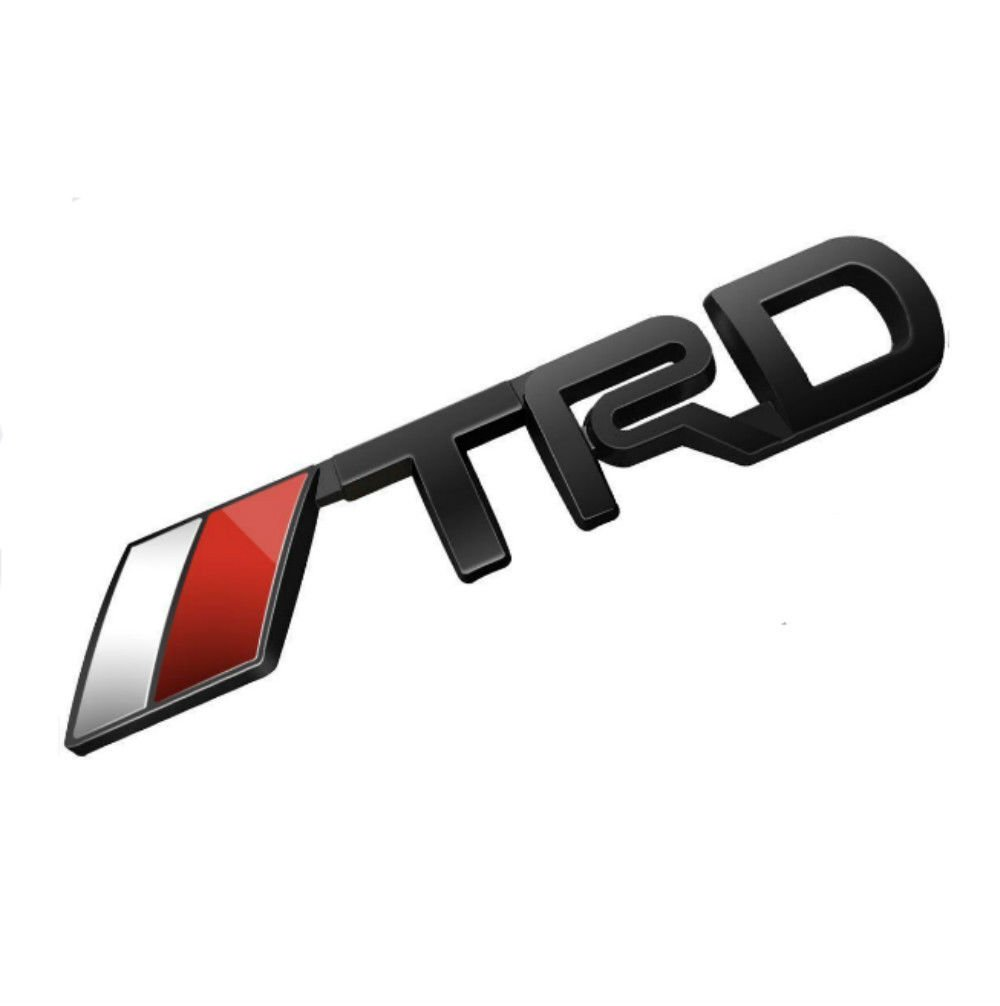 Incognito corporation 3d toyota racing development trd metal body side emblem sticker decal badge logo approx 9 5 x 1 8cm 3 74 x 0 71inchblack