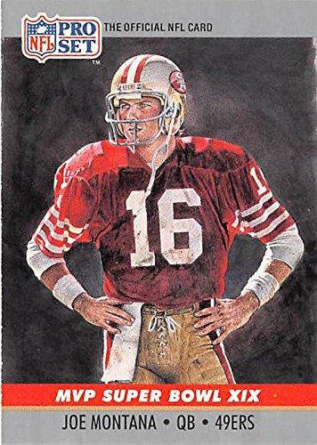 Joe Montana football card (San Francisco 49ers) 1990 Pro Set - Francisco Football San 49ers Card