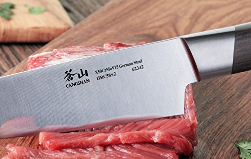 Cangshan R Series 62458 German Steel Forged 3-Piece Starter Knife Set with Ashwood Sheaths by Cangshan (Image #5)