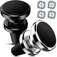 Magnetic Car Mount KEKU 2Pack Air Vent Multi-angle Rotary Phone Holder iPhone 7 6 6s plus 5 5s , Samsung 5s 5 SE, Galaxy S8 S7 S6 Edge, Note5 Nexus 6 (Silver, Black)