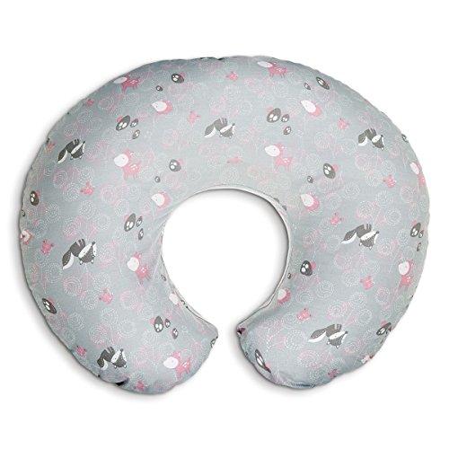 Boppy- Cojín de lactancia algodón, ergonómico, indeformable y optima adaptabilidad, de 0 a 12 meses, color rosa zorros