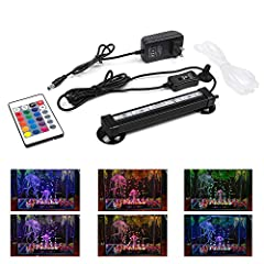 Smiful Air Pump Bubble Fish Tank Light                Specifications:              Waterproof: IP68 Waterproof       Numbers of LED Lights: 6       Light Color: 16 color with 4 modes       LED Light Type: 5050       Light Bar Length: 7...