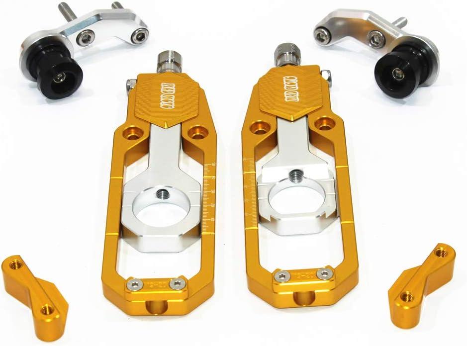 SUZUKI GSXR1000 2009-2013, Gold Motorcycle Chain Tensioner Adjuster with Spool