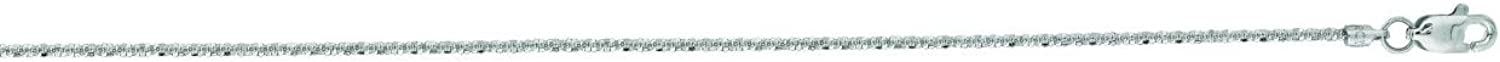 IcedTime 14K White Gold Sparkle Chain 20 inch long x1.1mm wide