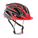 Leadtry HM-3 Bike Helmet Ultralight Integrally Molded EPS Bicycle Helmet Safety Helmet Specialized for Road/ Mountain Terrain Bicycle with Comfortable Removable Washable Antibacterial Pads (Black+Red) Review