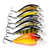 Proberos Crankbaits Set Lure Fishing Hard Baits Swimbaits Boat Ocean Topwater Lures Kit Fishing Tackle Hard Baits Set For Trout Bass Perch Fishing Lures Set (407)