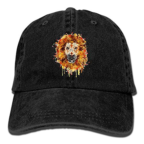 - PILLO Wildlife Drawing Lion Denim Baseball Caps Hat Adjustable Cotton Sport Strap Cap for Men Women