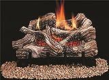 Comfort Flame CRB3624PRA River Canyon Oak Vent-Free Ceramic Fiber Logs, 24-Inch
