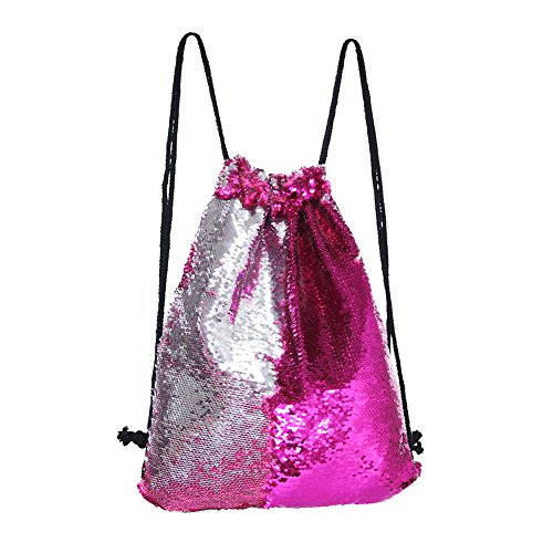 Dance Sequin - MHJY Mermaid Bag Sequin Drawstring Backpack Dancing Bag Fashion Dance Bag Sequin Backpack Flip Sequin Bling Bag for Beach Hiking Bags