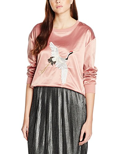 Soaked in Luxury Fame Sweatshirt Ls, Sudadera para Mujer Pink (Ash Rose)