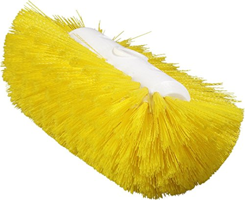 Carlisle 4004304 Sparta Spectrum Flare Head Tank and Kettle Brush, Yellow Polyester Bristles, 9-1/2 x 5-1/2'' W (Case of 12) by Carlisle