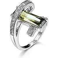 siamsmilethailandshop Hot Womens Men Fashion 925 Silver Peridot Ring Anniversary Engagement Jewelry (8)