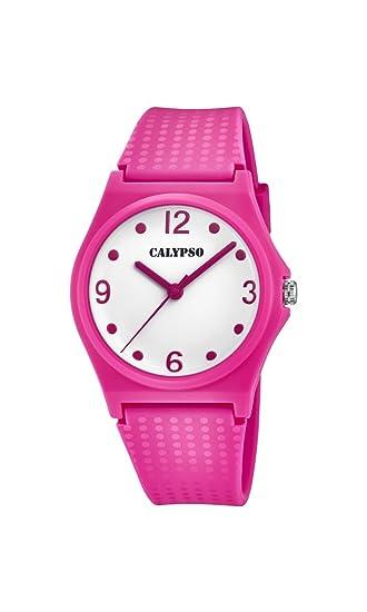 Calypso Reloj Análogo clásico para niñas de Cuarzo con Correa en Plástico K5743/4: Amazon.es: Relojes