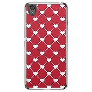 Loud Universe OnePlus X Love Valentine Printing Files Valentine 62 Printed Transparent Edge Case - Red/White