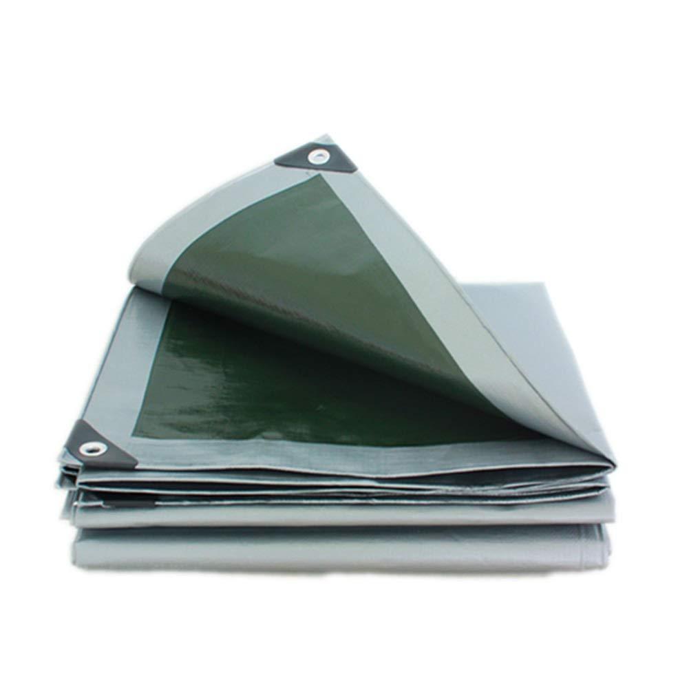 ターポリン厚みの屋外ターポリン防水ヘビーシェード防雨日焼け止めトラックオイルキャンバスキャノピー布ガゼボ屋根抗UVガーデニング LIUDINGDING (Color : 銀, Size : 4x8m) 銀 4x8m