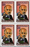 W. E. B. DUBOIS ~ BLACK HERITAGE ~ CIVIL RIGHTS ~ BLACK HISTORY ~ NAACP #2617 Block of 4 x 29¢ US Postage Stamps