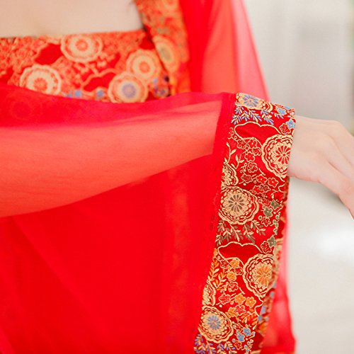 Damen plus Größe rotes Kleid Kleid