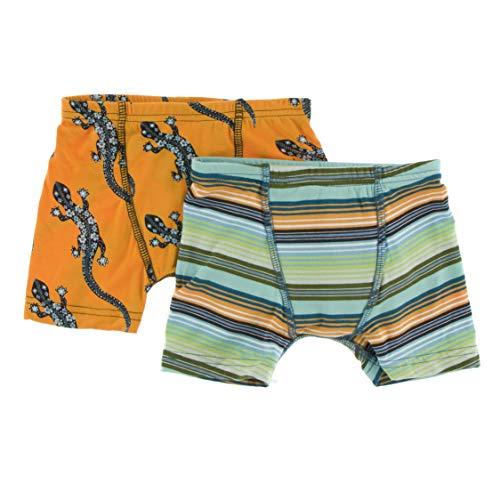 (Boxer Briefs Set (Apricot Bead Lizard and Cancun Glass Stripe - M-8/10))