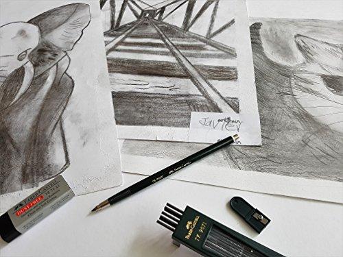 Faber-Castell Mechanical drafting pencil 2.0mm lead holder set (TK9400), 2B leads, sharpener, eraser, 2mm clutch pencil set Photo #7
