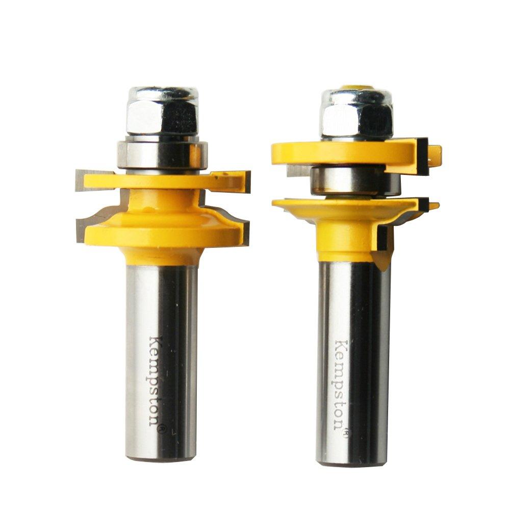 Kempston 409476 Miniature Matched Rail & Stile Set - Traditional Ogee 1/2-Inch Shank, 3/8-Inch Cutting Diameter, 3/4-Inch Cutting Length Kempston Corporation