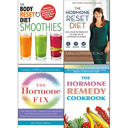 Hormone Reset Diet, Body Reset Diet Smoothies, Hormone Fix and Hormone Remedy Cookbook 4 Books Collection Set
