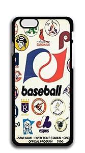iphone 6 Plus case-baseball all-star game hardshell black case for iphone 6 Plus (5.5')