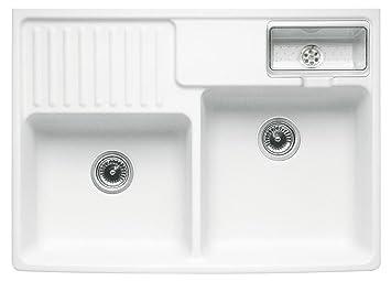 Evier à poser céramique blanc Villeroy & Boch TRADITION 2 bacs 1/2 ...
