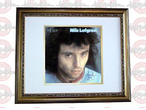 Nils Lofgren Autograph Signed The Best LP Album & Proof PSA AFTAL