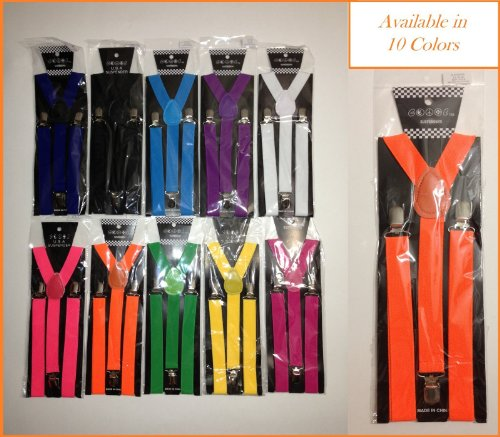 10 Colors Mens&Womens Clip-on Sexy Suspenders Elastic Y-Shape Adjustable Braces