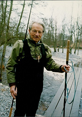 Curt Rod - Vintage photo of Curt Nicolin with fishing rod.