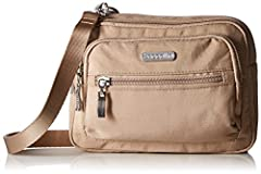 """Versatility is the name of the game with the Triple Zip bag from Baggallini. Thanks to a removable 52"""" adjustable strap, our lightweight travel bag functions as a crossbody, wallet bag, or fanny pack. It's perfect for travel, everyday use and..."""