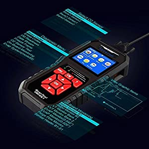 OBD2 Scanner, Seekone Professional Car Auto Diagnostic Code Reader OBDII & CAN Vehicle Engine O2 Sensor Systems EOBD Scanners Tool for all OBDII Protocol Cars Since 1996 (SK860)