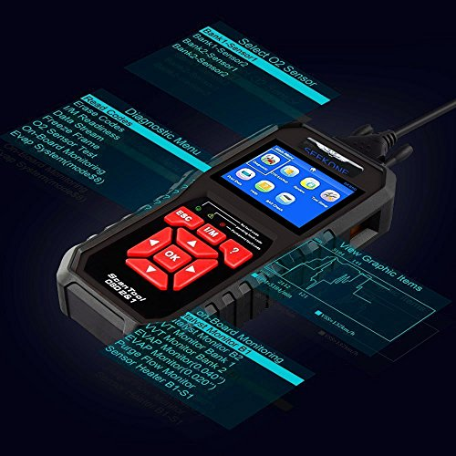 51XW1Fpyp7L - SEEKONE OBD2 Scanner, Professional Car Auto Diagnostic Code Reader OBDII & CAN Vehicle Engine O2 Sensor Systems EOBD Scanners Tool for all OBDII Protocol Cars Since 1996(Upgraded SK860)
