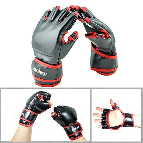 Mixed Martial Arts Fighting Gloves (MaxxMMA Mixed Martial Arts Training Grappling Gloves)