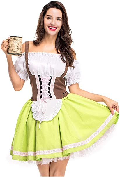 Amazon.com: COSKY Oktoberfest - Disfraz para mujer: Clothing