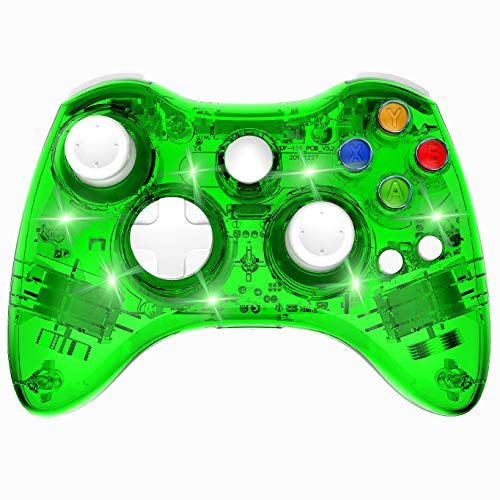 Wireless Xbox 360 Controller Double Motor Vibration Wireless Gamepad Gaming Joypad, Green - PAWHITS