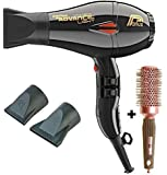 Parlux Advance Light Ionic and Ceramic Hair Dryer - Black + Free Brush by Parlux