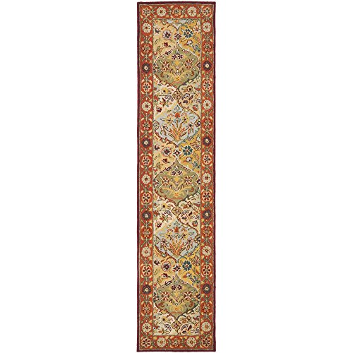 Safavieh Heritage Collection HG510B Handmade Traditional Oriental Multi and Red Wool Runner (2'3