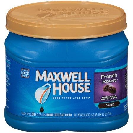 Maxwell House French Dark Roast Ground Coffee, 25.6 OZ (726g) - Coffee Roast House French Maxwell