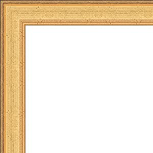 5x10 - 5 x 10 Elegant Gold Solid Wood Frame with UV Framer's Acrylic & Foam Board Backing - Great For a Photo, Poster, Painting, Document, or Mirror