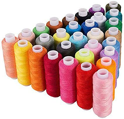 JJSJ Sewing Threads 60 Colour 250 Yards Each Spool Sewing Kit with Suitable for Sewing by Hand or Machine 60