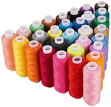 10pcs//Set Assorted Colors Polyester Sewing Threads Quilting Roll All Purpose