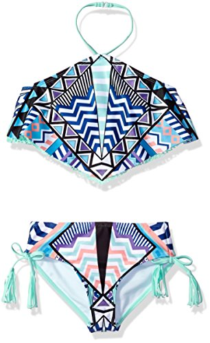 (Jantzen Big Little Girls Desert Darlings Tribal Tankini, Print, 8)