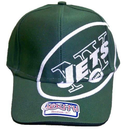 New York Jetsユースマジックテープストラップリーボック帽子 – 大きなロゴ   B006LPEJCS