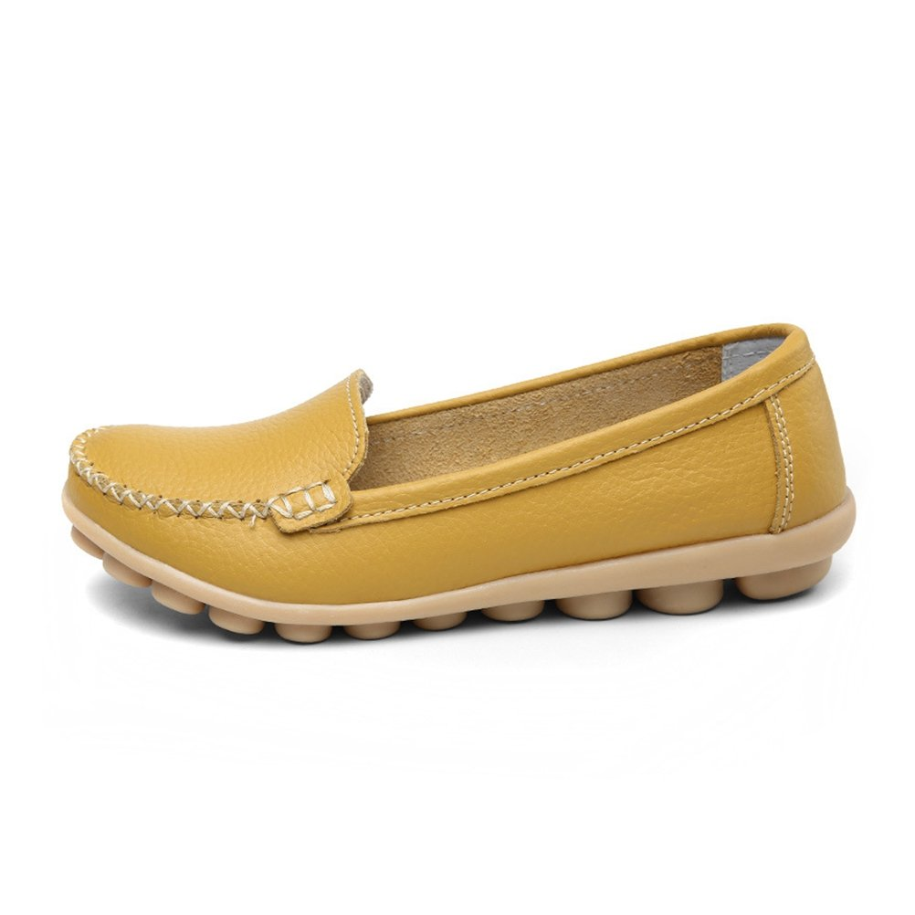 Yinhan Womens Casual Driving Loafers Slip On Boat Shoes Flats