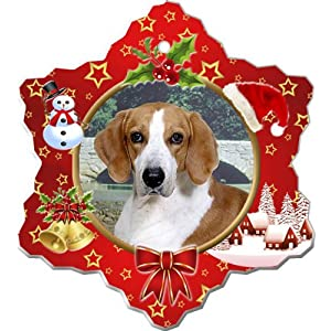 Canine Designs American Foxhound Porcelain Holiday Ornament 6