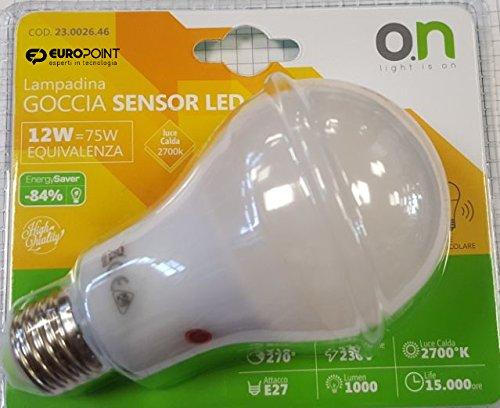 Bombilla E27 con doble sensor crepuscular, súper luminosa, 12 W, 75 W, con luz cálida de 2700 K: Amazon.es: Iluminación