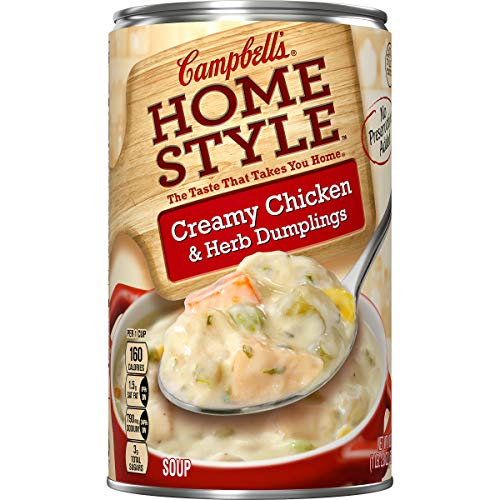 Campbell's Homestyle Creamy Chicken & Herb Dumplings Soup, 18.8 oz. (Pack of 12)