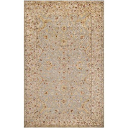 Alexandria Brown Area Rugs - CC Home Furnishings 2' x 3' Alexandria Kelp Brown, Slate Gray and Vanilla Rectangular Wool Area Rug